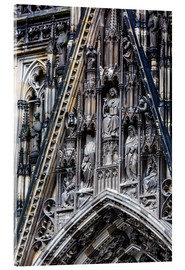 Akrylbilde  Facades detail at Cologne Cathedral