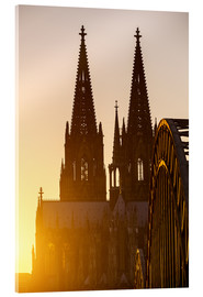 Akrylbilde  Sunset behind the Cologne Cathedral