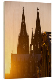 Trebilde  Sunset behind the Cologne Cathedral