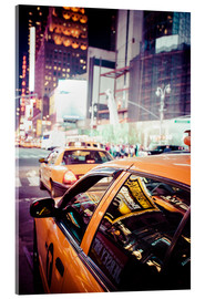 Akrylbilde  Yellow Cabs and City Lights