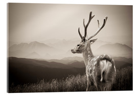 Akrylbilde  Stag in the mountains