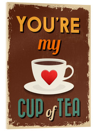Akrylbilde  You are my lovely cup of tea - Typobox