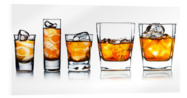 Akrylbilde  alcoholic drinks with natural ice