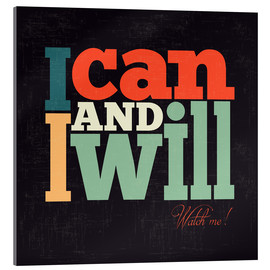 Akrylbilde  I can and I will - Typobox