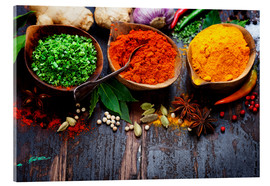 Akrylbilde  Colorful spices diversity