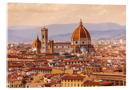 Akrylbilde  Florence Cathedral in evening light
