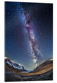 Akrylbilde  Milky Way over the Columbia Icefields in Jasper National Park, Canada. - Alan Dyer