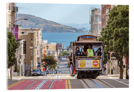 Akrylbilde  Cable car on a hill in the streets of San Francisco, California, USA - Matteo Colombo