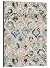 Aluminiumsbilde  Art Deco Marble Tiles in Soft Pastels - Micklyn Le Feuvre
