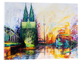 Akrylbilde  Cologne Cathedral Skyline colored - Renate Berghaus