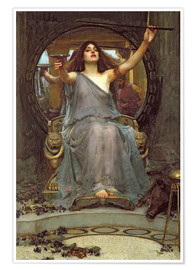 Plakat  Circe Offering the Cup to Ulysses - John William Waterhouse