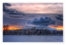 Plakat  Clouds above the HDI Arena - Holger Bücker (BuPix)