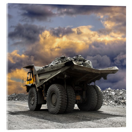 Akrylbilde  Severe weather in the gravel pit
