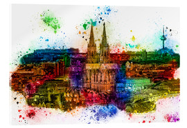 Akrylbilde  Cologne Skyline Cologne Cathedral - Peter Roder