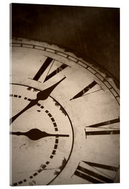 Akrylbilde  picture of an old vintage clock