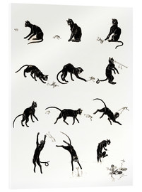Akrylbilde  The cat and the frog - Théophile-Alexandre Steinlen