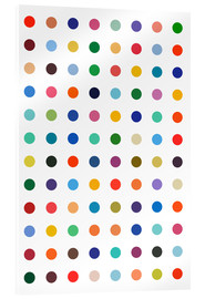 Akrylbilde  Damien Tribute - Colourful polkadots - THE USUAL DESIGNERS
