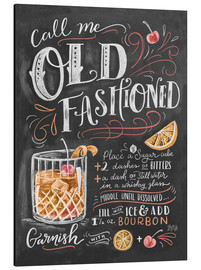 Aluminiumsbilde  Old fashioned cocktail oppskrift (engelsk) - Lily & Val