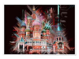 Plakat  Moscow Basilica Cathedral - Peter Roder