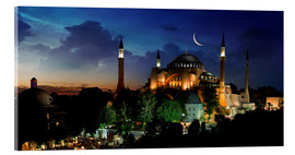 Akrylbilde  View of Hagia Sophia after sunset
