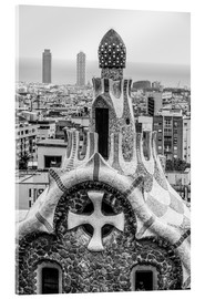 Akrylbilde  Impressive architecture and mosaic art at Park Guell