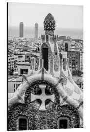 Aluminiumsbilde  Impressive architecture and mosaic art at Park Guell