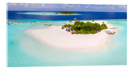 Akrylbilde  Aerial view of island in the Maldives - Matteo Colombo