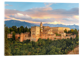 Akrylbilde  Alhambra with Comares tower