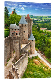 Akrylbilde  Fortress Carcassonne in France, Languedoc