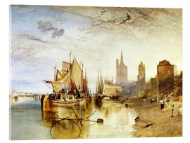 Akrylbilde  Cologne, the arrival of a post boat - Joseph Mallord William Turner