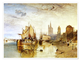 Plakat  Cologne, the arrival of a post boat - Joseph Mallord William Turner