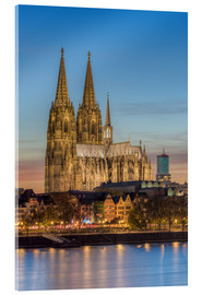 Akrylbilde  The Cologne Cathedral in the evening - Michael Valjak