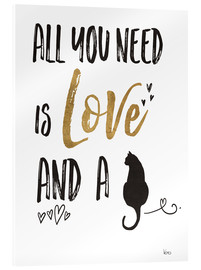 Akrylbilde  All you need is love and a cat - Veronique Charron