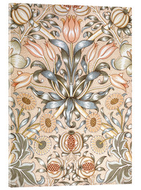 Akrylbilde  Lily and Pomegranate - William Morris