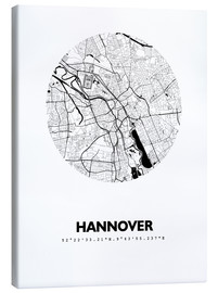 Lerretsbilde  City map of Hannover - 44spaces