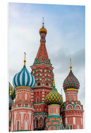 Bilde på skumplate  St. Basil's Cathedral at Red Square in Moscow - Click Alps