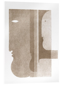 Akrylbilde  Two Profiles to the Left, One to the Right - Oskar Schlemmer