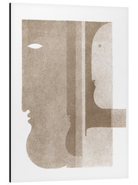 Aluminiumsbilde  Two Profiles to the Left, One to the Right - Oskar Schlemmer