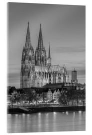 Akrylbilde  Cologne Cathedral black-and-white - Michael Valjak